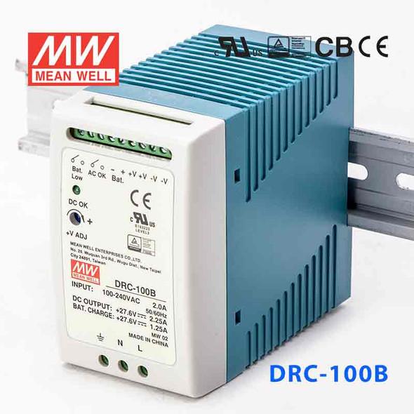 Mean Well DRC-100B Power Supply 96.6W 27.6V