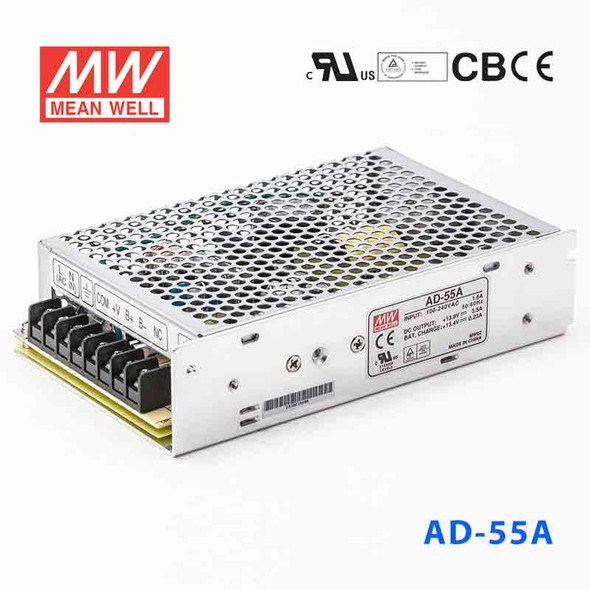 Mean Well AD-55A Security Power Supply 51.38W 13.8V 3.5A - UPS