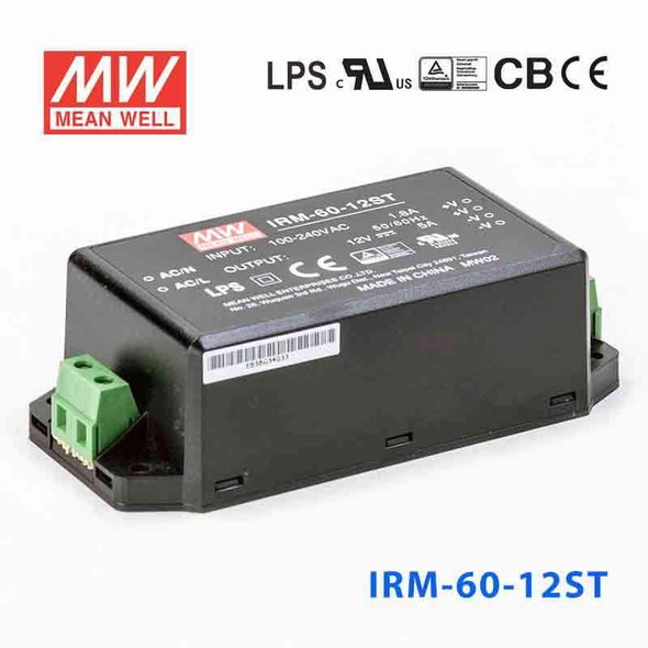 Mean Well IRM-60-12ST Switching Power Supply 60W 12V 5A - Encapsulated