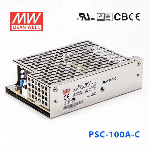 Mean Well PSC-100A-C Battery Chargers 100.05W 13.8V 4.75A - PFC