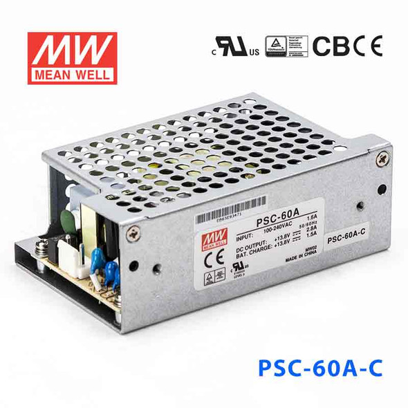 Mean Well PSC-60A-C Battery Chargers 59.34W 13.8V 2.8A - PFC