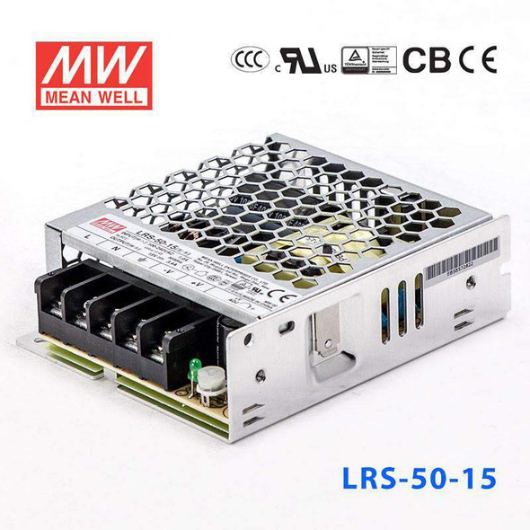 Mean Well LRS-50-15 Power Supply 50W 15V