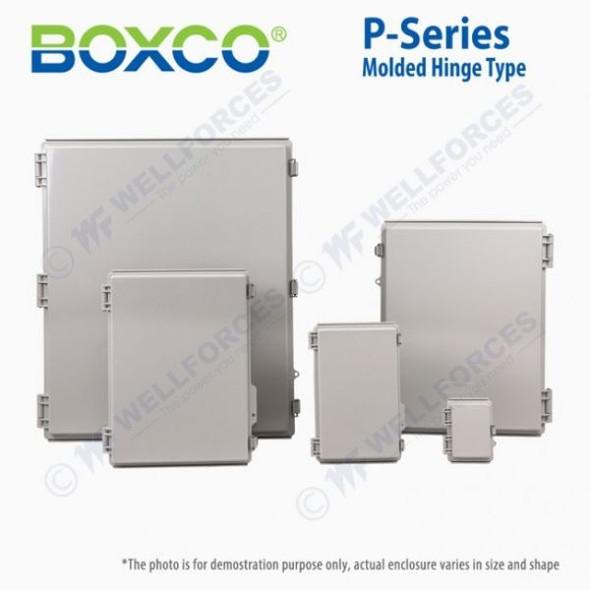 Boxco P-Series 400x500x200mm Plastic Enclosure, IP67, IK08, PC, Transparent Cover, Molded Hinge and Latch Type