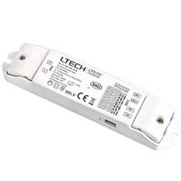 LTECH SE-12-350-700-W1D 12W  350mA ~ 700mA  CC DALI2 LED Driver - Selectable Output