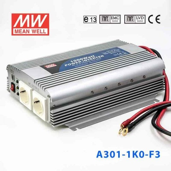 Mean Well A301-1K0-F5 Modified sine wave 1000W 230V  - DC-AC Inverter