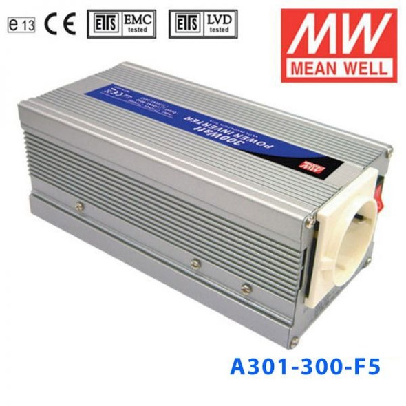 Mean Well A301-300-F5 Modified sine wave 300W 230V  - DC-AC Inverter