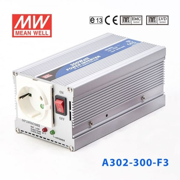 Mean Well A302-300-F5 Modified sine wave 300W 230V  - DC-AC Inverter