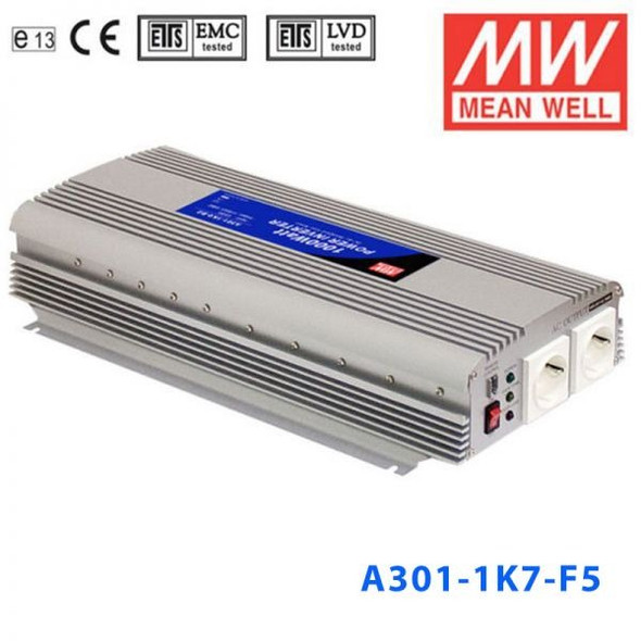 Mean Well A301-1K7-F5 Modified sine wave 1500W 230V  - DC-AC Inverter