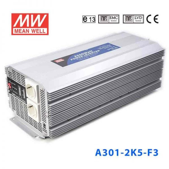 Mean Well A301-2K5-F5 Modified sine wave 2500W 230V  - DC-AC Inverter