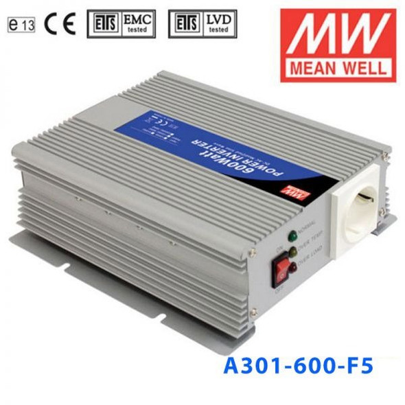 Mean Well A301-600-F5 Modified sine wave 600W 230V  - DC-AC Inverter