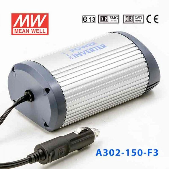 Mean Well A302-150-F5 Modified sine wave 150W 230V  - DC-AC Inverter