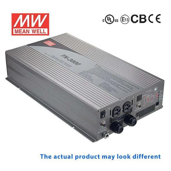 Mean Well TN-3000-148F True Sine Wave 40W 110V 60A - DC-AC Power Inverter