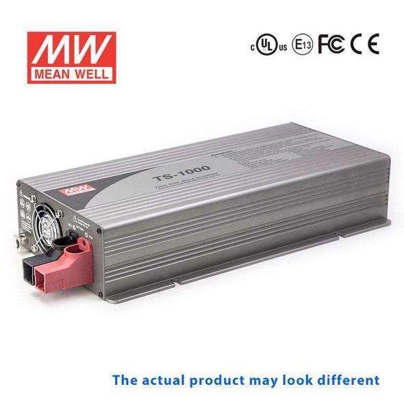 Mean Well TS-1000-124F True Sine Wave 1000W 110V 50A - DC-AC Power Inverter
