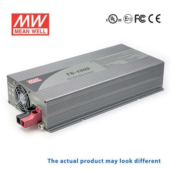 Mean Well TS-1500-148F True Sine Wave 1500W 110V 37.5A - DC-AC Power Inverter