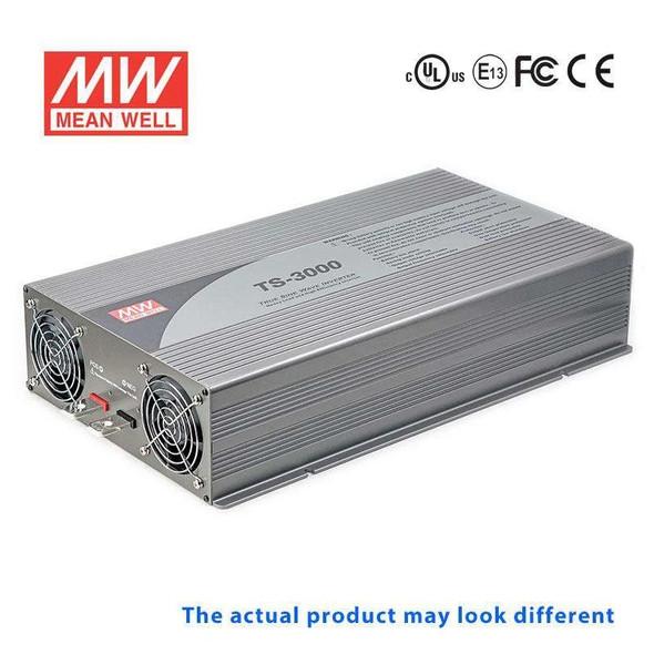 Mean Well TS-3000-124F True Sine Wave 3000W 110V 150A - DC-AC Power Inverter