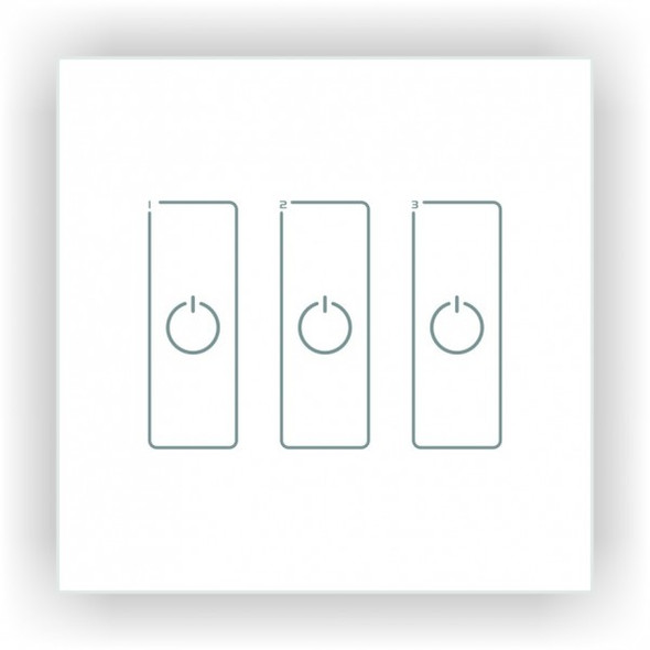 Ltech EDA3 3 Switch Touch Panel - DALI Master Dimmer