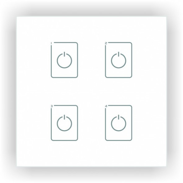 Ltech EDA4 4 Switch Touch Panel - DALI Master Dimmer