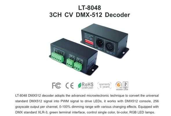Ltech LT-8048 Constant Voltage Decoder - DMX/RDM