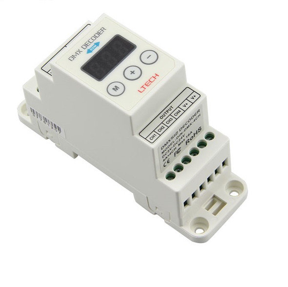 Ltech DIN-DMX-350-4CH Constant Current Decoder - DMX/RDM