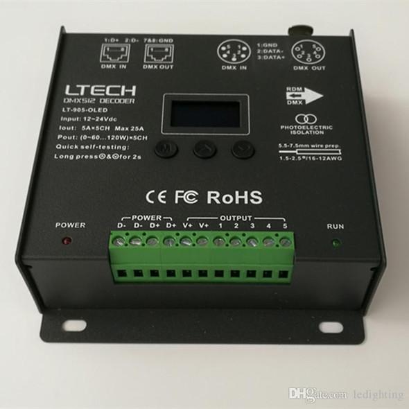 Ltech LT-905-OLED Constant Voltage Decoder - DMX/RDM