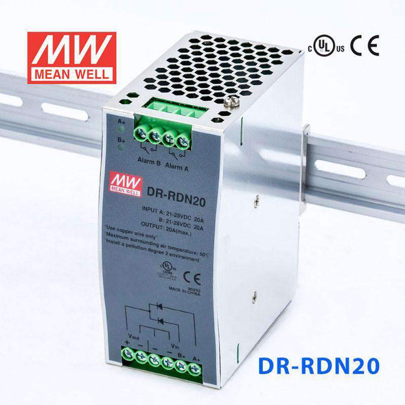 Mean Well DR-RDN20 Redundancy Module Power Supply - DIN Rail