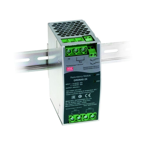 Mean Well DRDN40-12 Redundancy Module Power Supply 40A - DIN Rail