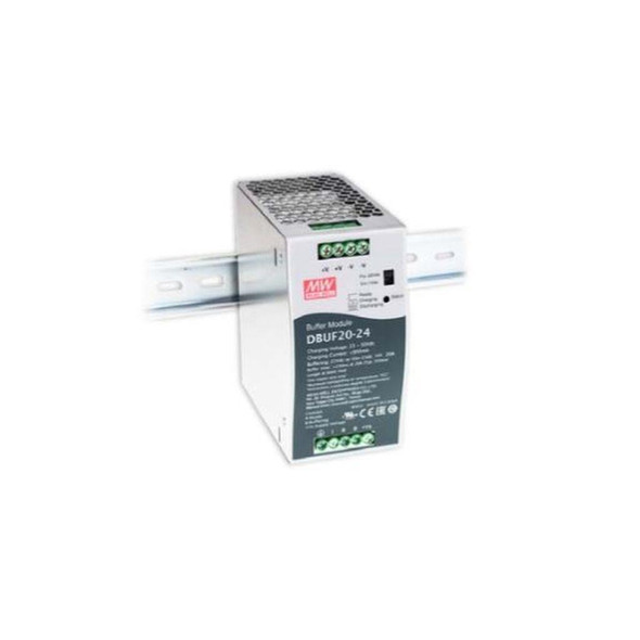 Mean Well DBUF20-24 Buffer Module Power 24V 20A Supply  - DIN Rail