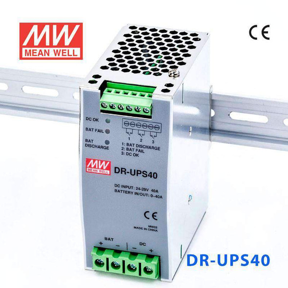 Mean Well DR-UPS40 DC UPS Module Power 40A Supply  - DIN Rail