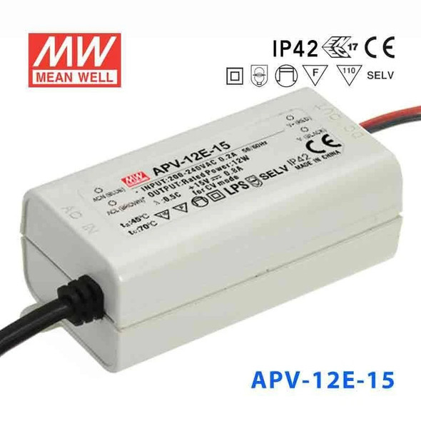 Mean Well APV-12E-15 Power Supply 12W 15V