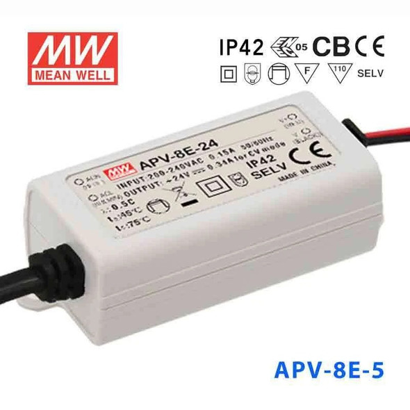 Mean Well APV-8E-5 Power Supply 8W 5V