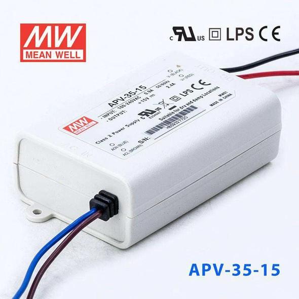 Mean Well APV-35-15 Power Supply 36W 15V