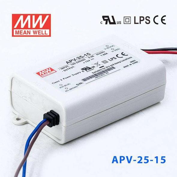 Mean Well APV-25-15 Power Supply 25W 15V