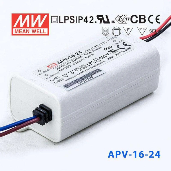 Mean Well APV-16-24 Power Supply 16W 24V