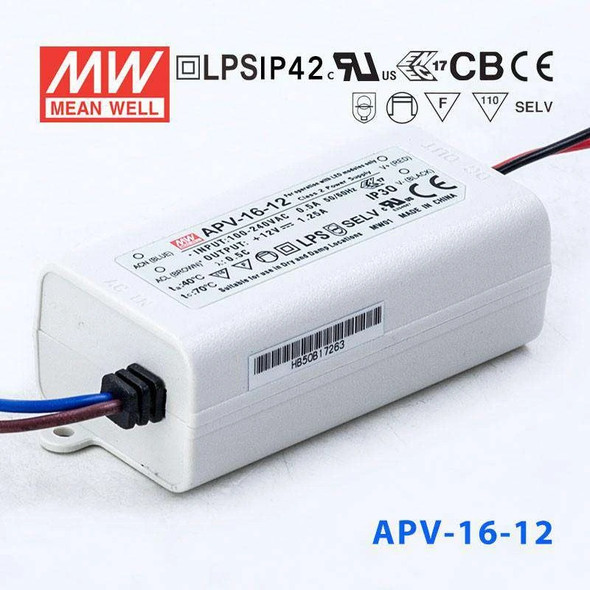 Mean Well APV-16-12 Power Supply 15W 12V