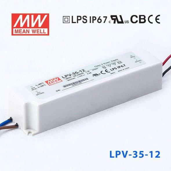 Mean Well LPV-35-12 Power Supply 35W 12V