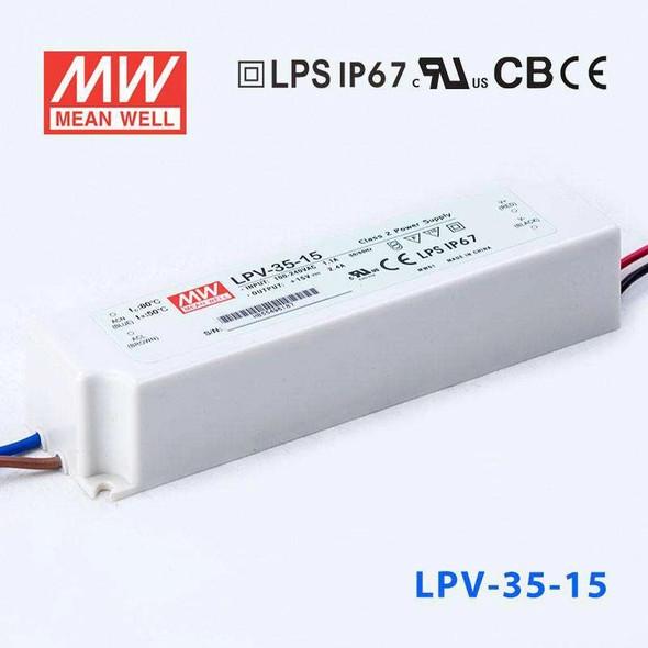 Mean Well LPV-35-15 Power Supply 35W 15V