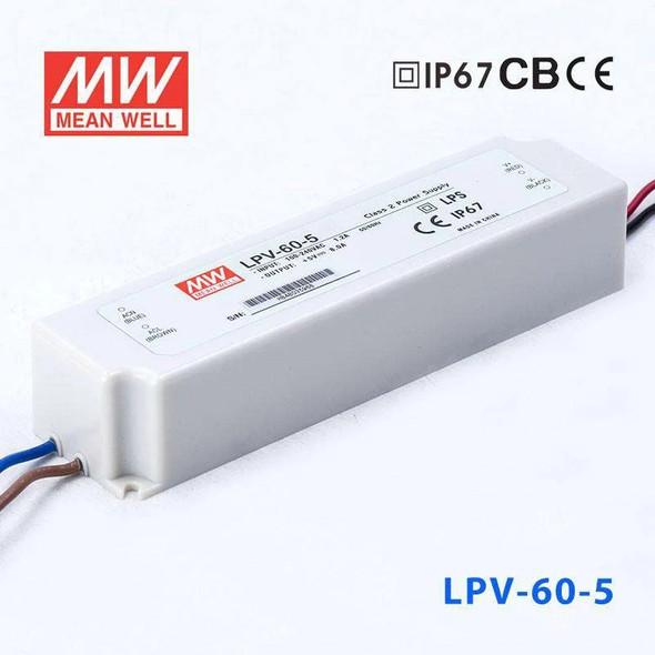 Mean Well LPV-60-5 Power Supply 60W 5V
