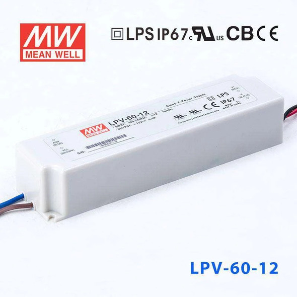 Mean Well LPV-60-12 Power Supply 60W 12V