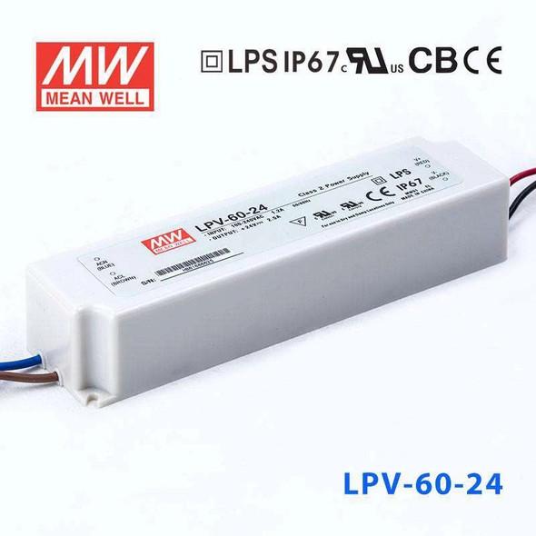 Mean Well LPV-60-24 Power Supply 60W 24V