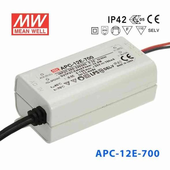 Mean Well APC-12E-700 Power Supply 12W 700mA