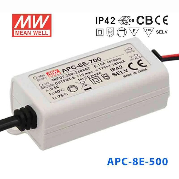 Mean Well APC-8E-500 Power Supply 8W 500mA