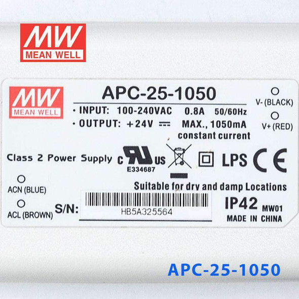 Mean Well APC-25-1050 Power Supply 25W 1050mA