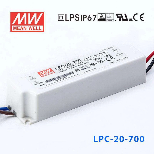 Mean Well LPC-20-700 Power Supply 20W 700mA