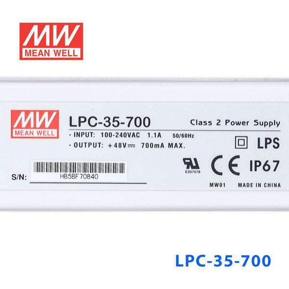 Mean Well LPC-35-700Power Supply 35W 700mA