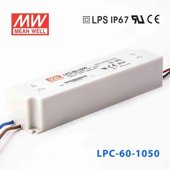 Mean Well LPC-60-1050 Power Supply 60W 1050mA