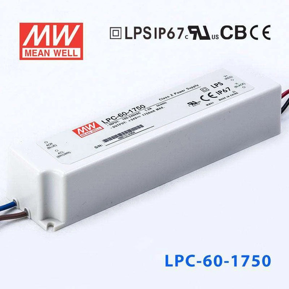 Mean Well LPC-60-1750 Power Supply 60W 1750mA
