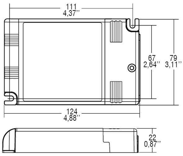 TCI DALI 60W 250-700mA adjustable constant current driver(127409)