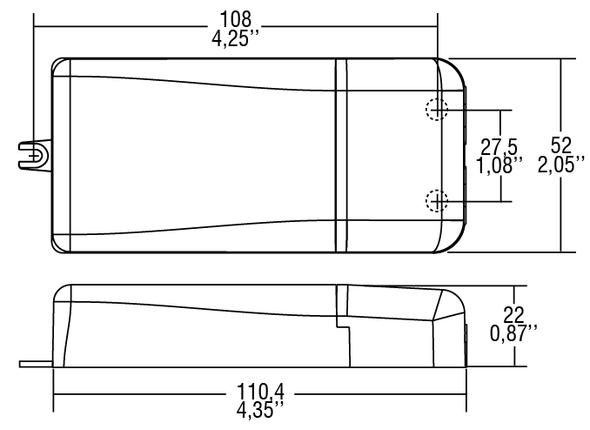 TCI DALI 20W 250-700mA adjustable constant current/voltage driver(123403)