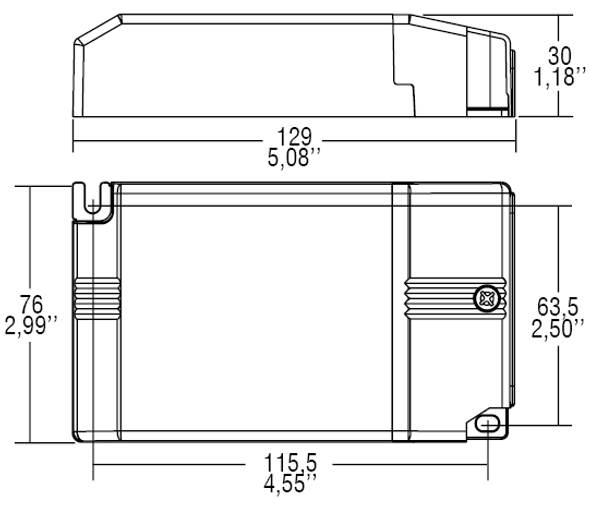 TCI DALI 55W 1050-2100mA adjustable constant current driver(123314)