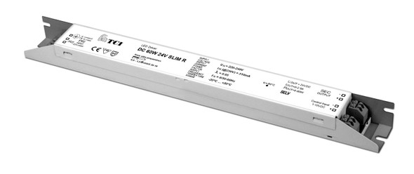 TCI 60W 24V constant voltage driver - slim type - 1-10V dimmable(127951)